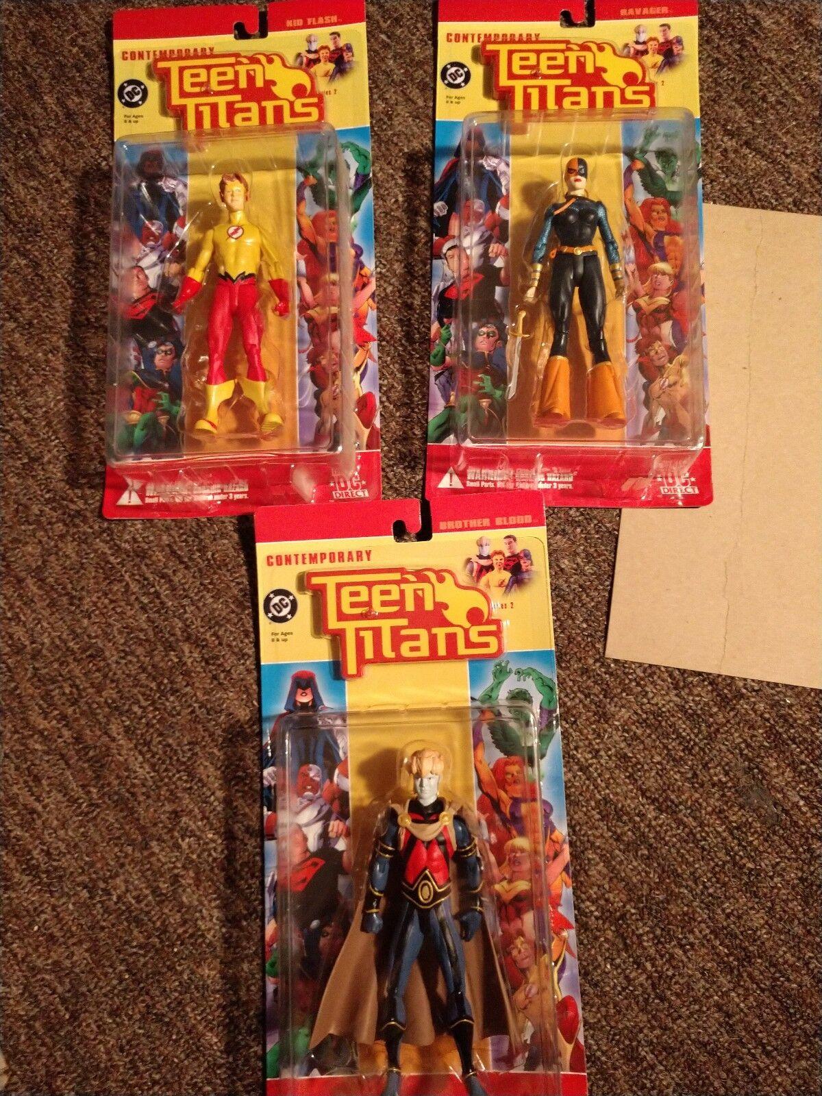 DC contemporáneo Teen Titans conjunto de Direct 3 Hermano Sangre, Ravager, Kid Flash