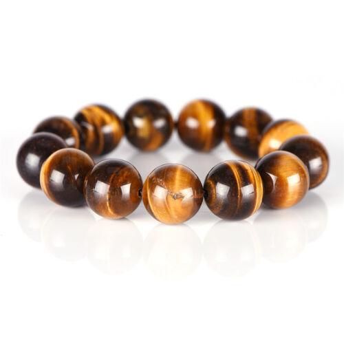 Natural Tiger Eye Stone Lucky Bless Beads Men Woman Jewelry Bracelet BangleUULK