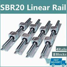 4x Sbr20 200mm 2200mm Linear Silde Rail Guide Shaft8x Sbr20uu Bearing Block Set