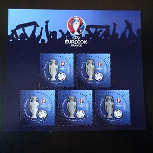 Bloc-Sheet-Soccer-UEFA-N-5050A-Neuf-Luxe-Mnh