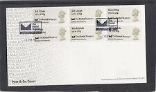 GB 2016  Post & Go Postal Museum Machin Head Collectors Strip FDC special pmk