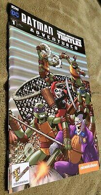 Batman TMNT Adventures #1 Alex Kotkin Keycollectibles CHROMIUM FOIL Variant