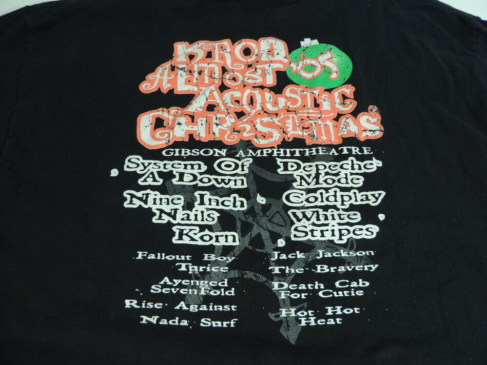 KROQ Almost Acoustic Christmas T-Shirt Concert 20… - image 2