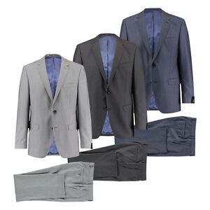 47de5b052223 Bugatti Herren Anzug Smart Fit Grau und Bleu Normal- Kurz- und Lang ...