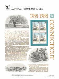 300-22c-Connecticut-Statehood-2340-USPS-Commemorative-Stamp-Panel