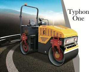 Brand New Typhon One 1 Ton Vibratory Compactor Roller for Road Construction