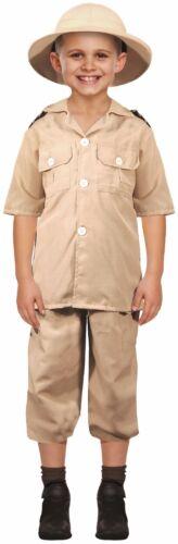 Bambini Ragazzi Ragazze Safari Explorer Libro Giorno Costume Outfit 4-12 anni