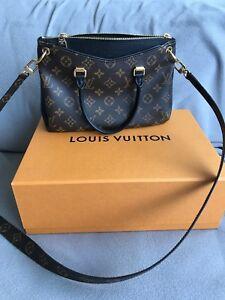 5a32b7a88543b Image is loading NWT-Authentic-Louis-Vuitton-Pallas-MM-Monogram-Noir-