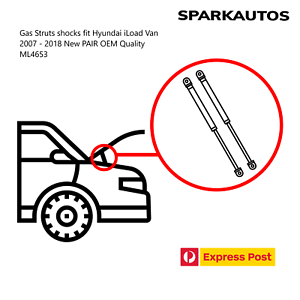 Gas-Struts-shocks-fit-Hyundai-iLoad-Van-2007-2018-New-PAIR-OEM-Quality-ML4653