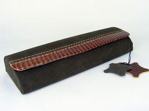 ECHT-LEDER-Brillenetui-Velours-Reptilienlederlook-mit-Magnetverschluss-2-Farben