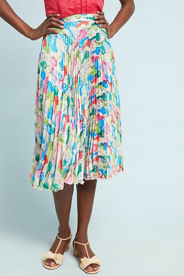 NEW Anthropologie Jelena Pleated Skirt by Eva Fanco Size 12 (Orig. )