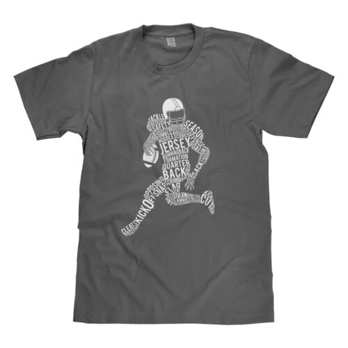 MixtBrand Kids Football Player Typography Youth T-Shirt Tee Touchdown Field Goal