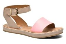 Clarks Ladies Romantic Moon Pink Leather Casual Sandals Size UK 4/37 E wide