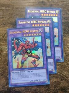 LED6-EN012 Ultra Rare Unlimited Near Mint 3Q6 Elemental HERO Sunrise