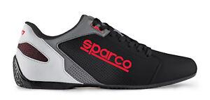 SPARCO-00126343NRRS-Scarpa-bassa-034-SL-17-034-in-pelle-leggera-Nero-Rossa-Taglia-43