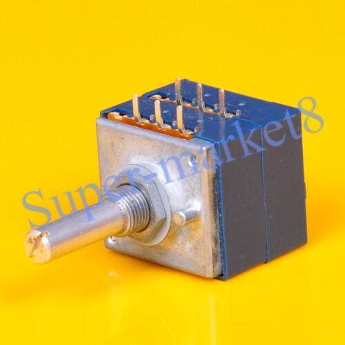ALPS RK27 250K Potentiometer Log Stereo Volume Control Audio Taper Solid Shaft