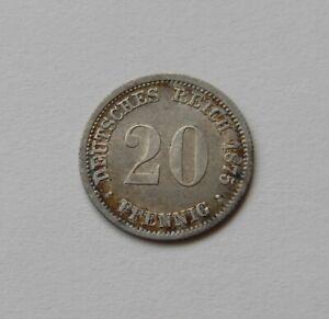 Copieux Empire: 20 Pfennig 1876 D, J. 5, Revêtit, Ii.-afficher Le Titre D'origine