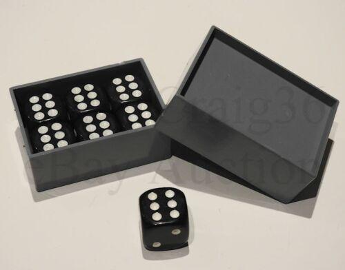 MAGIC DICE TRICK 7 BLACK DIE /& BOX AMAZING MIRACLE NUMBER CHANGE PREDICT EFFECT