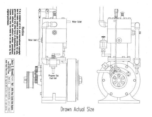 """1906 /""""Bill/"""" 4-Cycle Gas Engine Plans"""