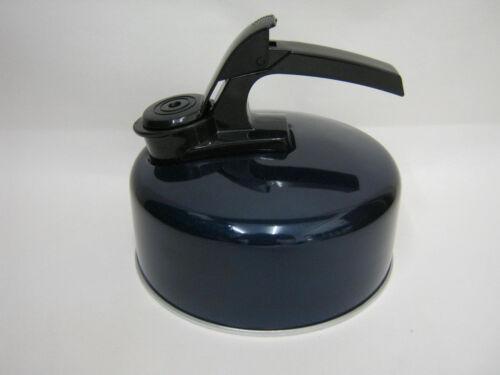 Nouveau aluminium réchaud de camping sifflement bouilloire cuisinière à gaz 1 L Bleu