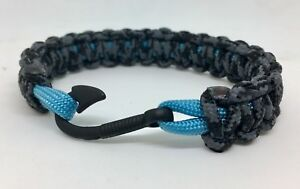 Image Is Loading Paracord Slim Fish Hook Bracelet Usa Made