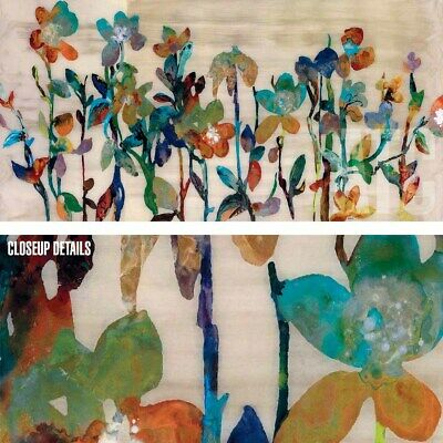 """48/""""x24/"""" NECTAR by JENNIFER HOLLACK ARTTOCANVAS ABSTRACT COLORFUL FLORAL CANVAS"""