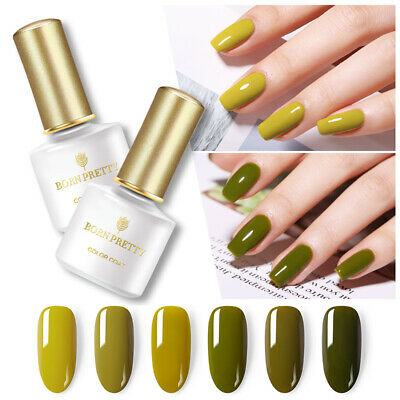BORN PRETTY 6ml Gel Polish Olive Green Series Soak Off UV Gel Nail Art  Designs