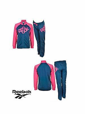 Detalles de Reebok Mujer Damas Chicas de entrenamiento físico Chándal Drak Azul Marino Cereza Rosa ver título original