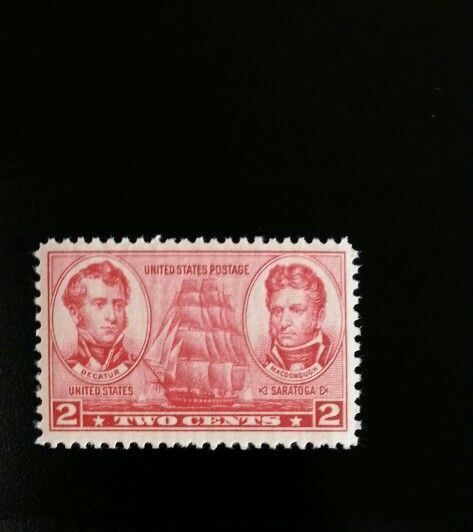 1937 2c Decatur & Macdonough, U.S. Naval Officers Scott