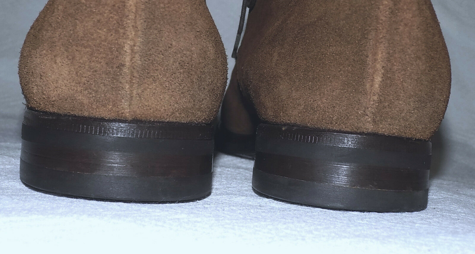 Franceschetti 100% BARNEY'S New York -HANDMADE 100% Franceschetti Suede Shoes-Camel-Size 10M-Nice 2276fe