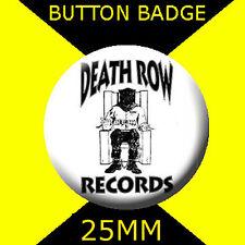 DEATH ROW RECORDS- LOGO - Button Badge 25mm # CD  24
