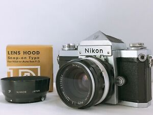 🟢 EXC + +, S/N 716 xxxx 🟢 Nikon F SLR Nikkor-H Auto 50mm f2 Filmkamera aus Japan 742