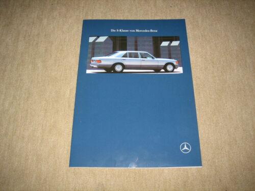 MERCEDES CLASSE S BERLINA w126 PROSPEKT BROCHURE DI 1//1990 44 pagine
