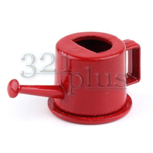 Miniature Watering Can 1:12 Scale Dollhouse Garden Fairy Garden Miniatures Red