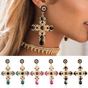 Image Is Loading Runway Baroque Style Luxury Black Beads Cross Gold