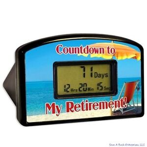My retirement day countdown desktop timer gift clock bigmouth ebay - Birthday countdown wallpaper ...