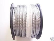 Galvanized Wire Rope Cable 38 7x19 50 100 150 200 250 500 1000 Ft