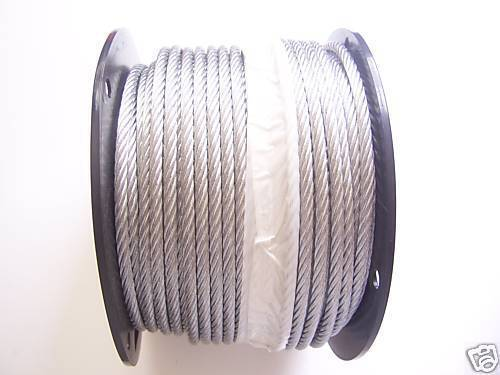 Fiberfly 1//4 Zipline Aircraft Cable with Clamps /& Thimbles 200Ft Stainless Steel Cable 7 x 19 Strands Construction