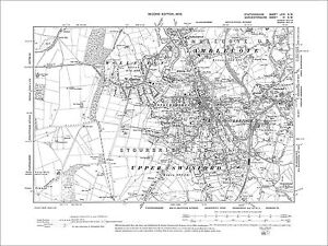 Stourbridge Wollaston old map Worcestershire 1904 4SW eBay