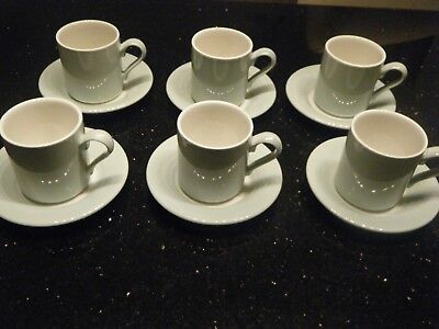 Set Of 6 Portmerion Art Deco Style Coffee Can Cups And Saucers Ebay