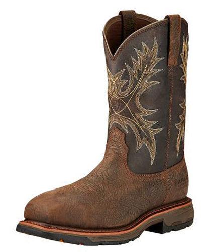 Ariat Men's 17420 Workhog Waterproof Composite Toe Boot Bruin Brown Coffee Full