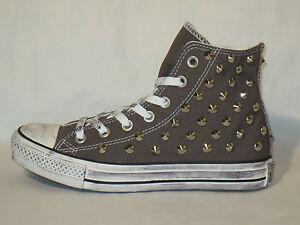 Converse all star Hi borchie scarpe donna uomo sneaker artigianali