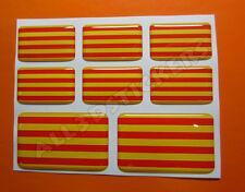 8 x Pegatinas 3D Relieve Bandera Senyera Señera Catalunya Cataluña