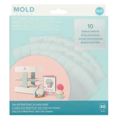 We R Memory Keepers 40 hojas de plástico para 3d Mold Press//formas de prensa 17x1