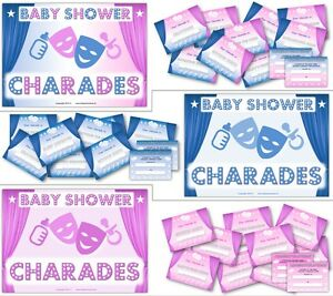 Image Is Loading Baby Shower Party Games BABY SHOWER CHARADES Boy