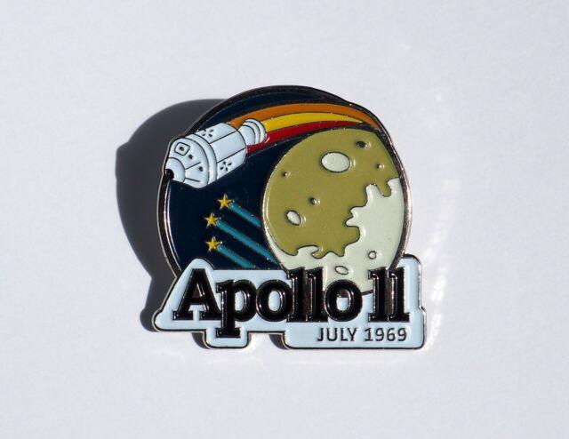 "Apollo 11 Enamel Pin - 50th Anniversary Limited Edition Kickstarter 1 1/8"""