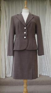 Gerry-Weber-Suit-Size-UK-14-Textured-Skirt-amp-Jacket-Ladies