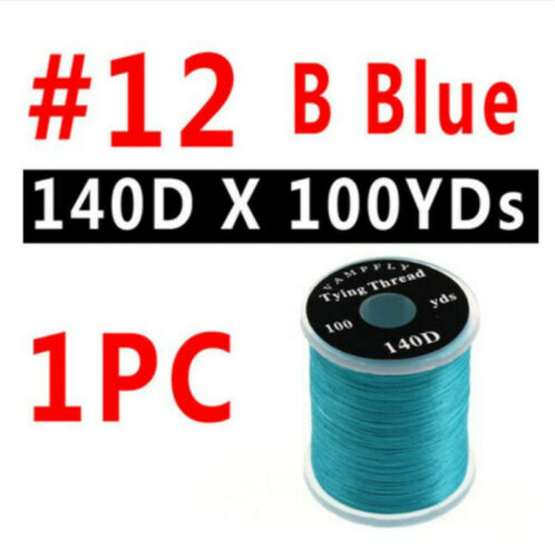 13 Colors Fly Tying Floss Thread for Fly Fishing 140D Nylon Thread 100 Yards