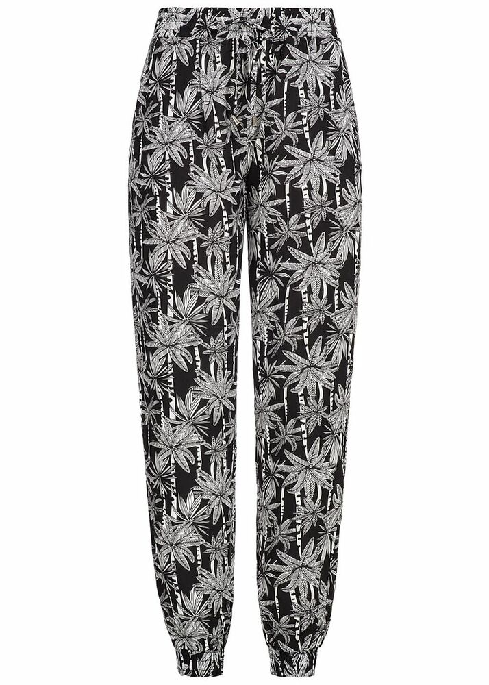 50% Off B18052577 Femmes Eight 2 Nine Pantalon 2 Poches Palmiers By Fresh Made Noir