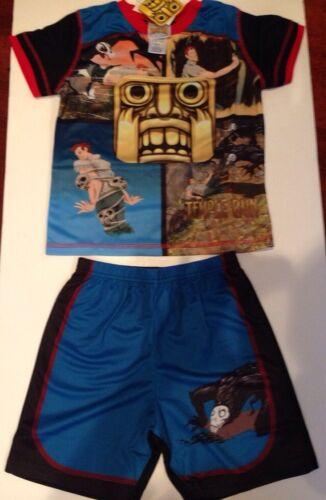 Kids Boy/'s Temple Run Pajama Set Size 4//5